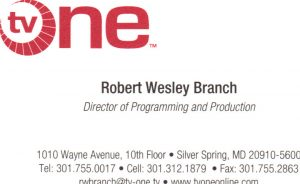 TV One Business Card