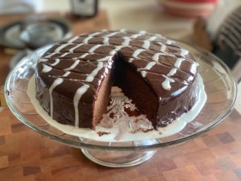 Permalink to: Chocolate Chevron Cake